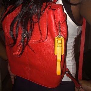 Red Coach Backpack